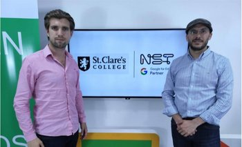 Maximo Cirio, CEO de St. Clare's College, y Pablo Lluviera, CEO de NST Google for Education Partner