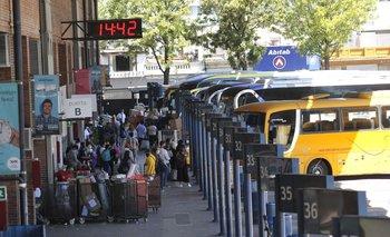 Circulación de ómnibus en Tres Cruces con 50% de aforo