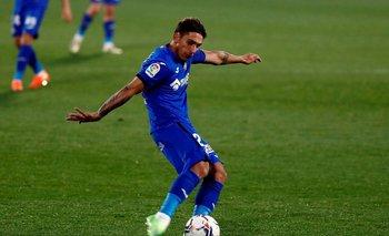 Damián Suárez jugando para Getafe