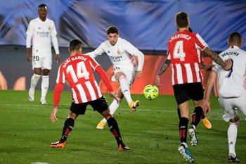 Fede Valverde frente a Atlético de Madrid