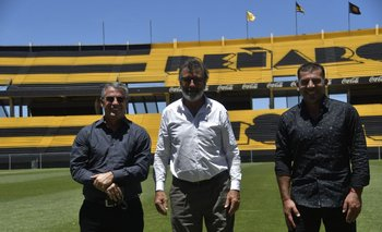 Pablo Bengoechea, Walter Olivera y Gabriel Cedrés