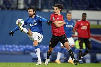 Andre Gomes y Cavani