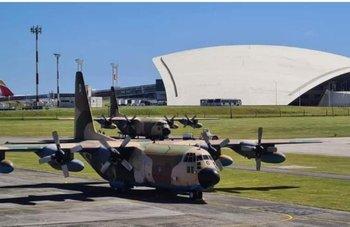Archivo. Uno de los aviones Hércules comprados a la Fuerza Aérea de España