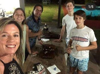 La primera dama compartió fotos de su Navidad en familia