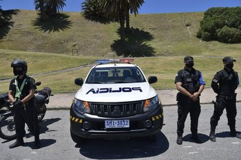 Operativo policial para controlar aglomeraciones