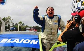 Carolina Larratea marcó un hito para el automovilismo uruguayo.