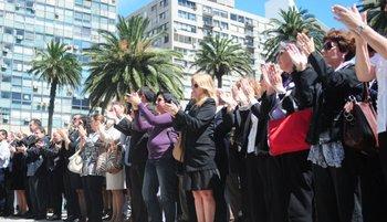 Funcionarios del Poder Judicial protestan