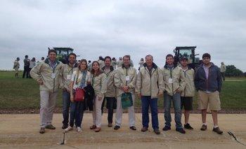 Integrantes de la delegación uruguaya en Waterloo