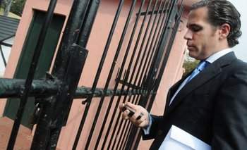 Hernán Calvo, antes de entrar al remate de los aviones de Pluna