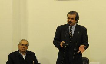 Enzo Benech y Carlos María Uriarte el lunes en la FR