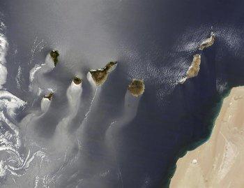 Vista aérea de las Islas Canarias