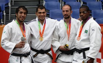 Juan Romero, podio Odesur 2014