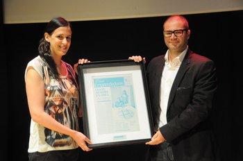 Los ganadores del reconocimiento al Espíritu Emprendedor, los socios de Oz Media