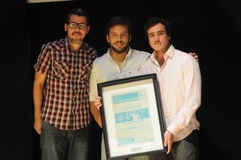 Los socios de woOw, Martín Larre, Leonardo Silveira y Martín Giura