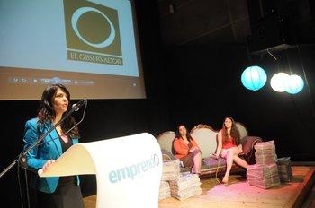 La gerenta comercial del diario El Observador, Fernanda Ariceta fue la maestra de ceremonia