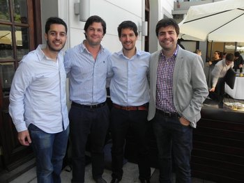 Matías Colotuzzo, Ivo Ferreira, Leo Vernazza y Ariel Ludueña