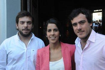 Leonardo Silveira, Ana Carrero y Martín Giura