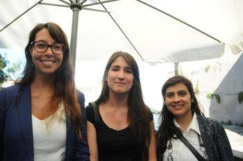 Federica Hampe, Melisa Cuadro y Ana Laura Trías