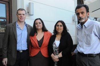 Enrique Topolansky, Gabriela Malvasio, Sara Goldberg y Rafael García