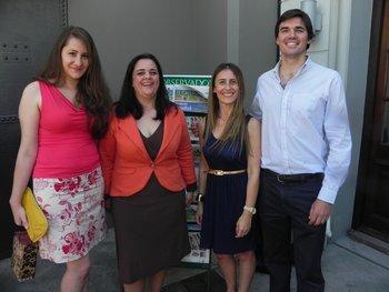 Cecilia Amorín, Gabriela Malvasio, Carolina Gianola y Marcelo Lanfranconi