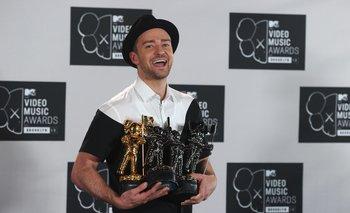 Justin Timberlake y sus cuatro premios