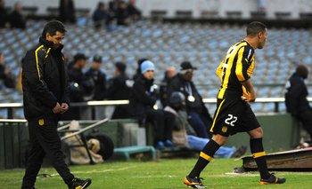 Darío Rodríguez y el Polilla Da Silva el día del regreso ante Wanderers