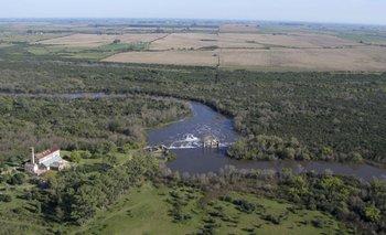 Imágenes aéreas que tomó la intendencia muestran cultivos hasta las márgenes del río Santa Lucía