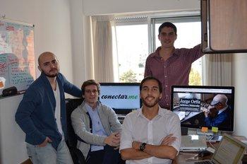 Los socios Augusto Schiavi, Gastón Menéndez, Marcus Lundstedt y Alejandro Brubacher