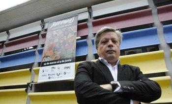Enrique Aguerre, director del Museo Nacional de Artes Visuales y coordinador general de la muestra