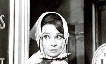 "Audrey Hepburn en ""Charada"""