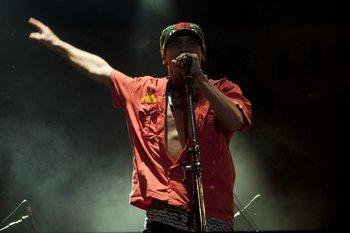 Manu Chao durante la primera fecha del Festival Mastai