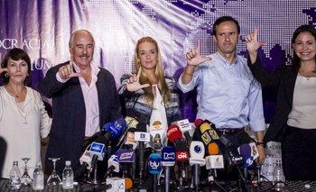 Líderes políticos venezolanos adhieren a la causa de Leopoldo López.<br>