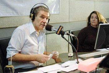 Víctor Hugo Morales en su programa de radio Continental, en 2009.