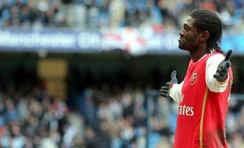 El futbolista Emmanuel Adebayor