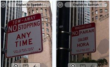 La aplicación Word Lens, que traduce textos al fotografiarlos, es muy útil para los viajeros