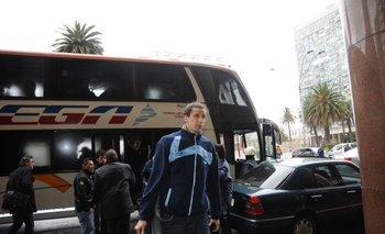 Martín Leiva en Uruguay para un amistoso con Argentina