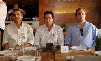 Fernando Lopa (Brasil), Juan Carlos Ferrario (Paraguay) y Conrado Cimino (Argentina)
