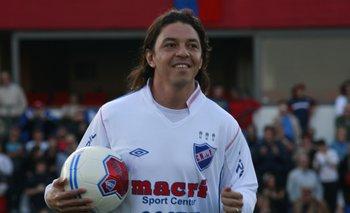 Gallardo cuando jugó en Nacional y fue compañero del Morro