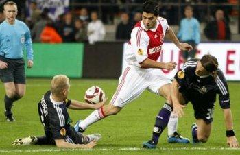 Luis Suárez fue máximo artillero de la Liga de Holanda en 2009/10, con 35 goles marcados con Ajax