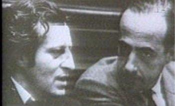 Zelmar Michelini y Héctor Gutiérrez Ruiz en el Parlamento