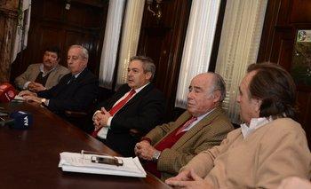 Integrantes del Foro Mercosur de la Carne en la sede de la ARU<br>