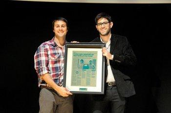 Álvaro Pérez y Juan Pablo Conde en los premios Emprendo, 2013