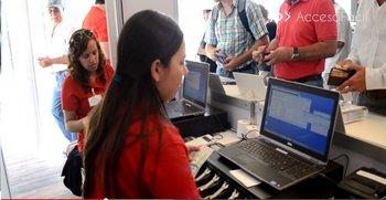 El sistema de AccesoFácil siendo aplicado en la ExpoActiva 2015