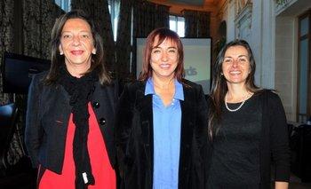 Patricia Lussich, Milena Guillot y Silvana Saavedra