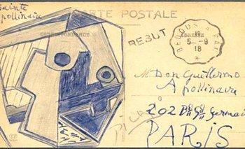 <p>La postal data del año 1918</p>