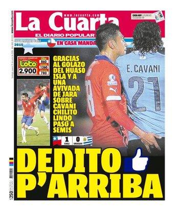 La derrota de Uruguay en la prensa chilena