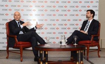 Capurro y Zuasnábar el martes en la actividad del HSBC <br>