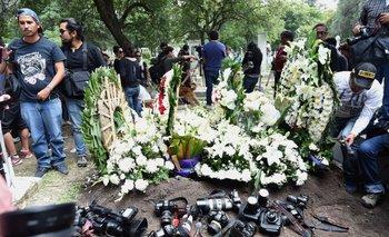 Los fotógrafos honraron a su colega asesinado