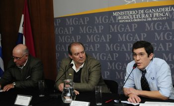 Francisco Donagaray, Fabio Montossi e Ignacio de Barbieri<br>