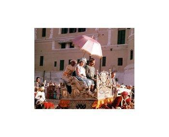 Isabel en uno de sus primeros viajes a la India